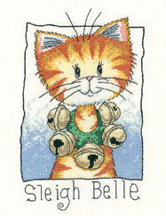 Sleigh Belle christmas cross stitch