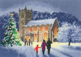 Cross stitch christmas church by John Clayton