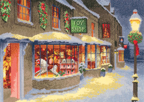 Cross stitch Christmas Toy Shop by John Clayton