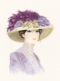 Hannah, an Elegant lady in counted cross stitch by John Clayton