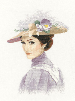 Rebecca, an Elegant lady in counted cross stitch by John Clayton