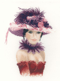 Sophia, an Elegant lady in counted cross stitch by John Clayton