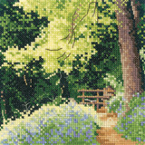 Bluebell Wood cross stitch chart by John Clayton