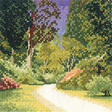 Woodland Path cross stitch chart by John Clayton