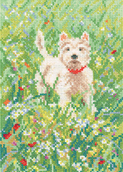 Cross stitch Westie