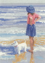 Cross stitch Wave Watching