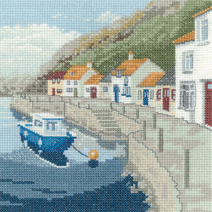 Sheltered harbour cross stitch by Peter Underhill