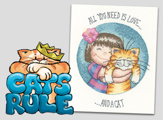 All you need is love and a cat cross stitch