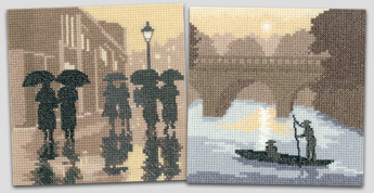 Cross stitch Silhouettes