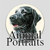 Cross stitch animal portraits