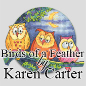 Birds of a Feather cross stitch by Karen Carter