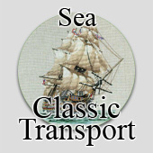 Counted cross stitch sea transport
