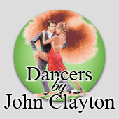 Counted cross stitch dancers by John Clayton