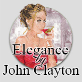 Elegant ladies and gentlemen in cross stitch by John Clayton