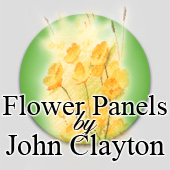 Counted cross stitch Flower Panels by John Clayton