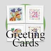 Counted cross stitch Christmas Cards