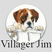 Cross stitch designs by Villager Jim