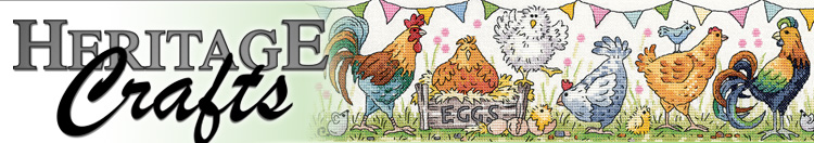 Counted cross stitch designs by Heritage Crafts