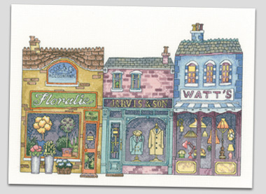 Cross Stitch High Street by Peter Underhill