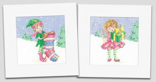 Cross stitch Christmas cards by Maria Diaz