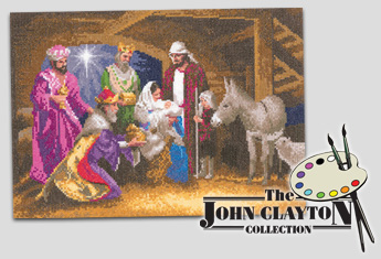 Nativity cross stitch by John Clayton