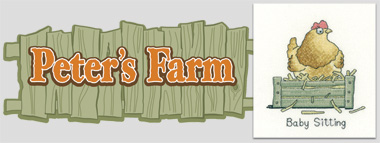Peter's Farm - a new range of cross stitch designs by Peter Underhill