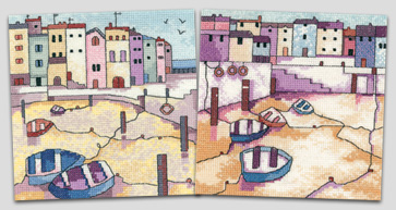 Painted Harbours cross stitch by Karen Carter