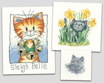 New cross stitch cats from Heritage Crafts