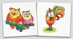 Simply Heritage cross stitch greeting cards by Karen Carter