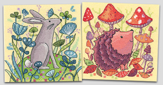 Woodland Creatures in cross stitch by Karen Carter